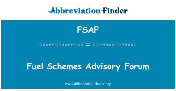 FSAF: Foro Consultivo de los sistemas de combustible
