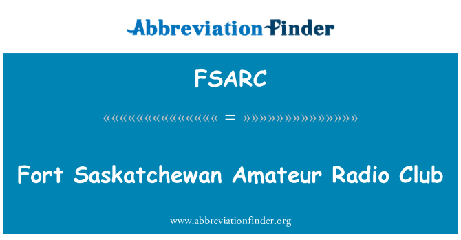 FSARC: Fort Saskatchewan Amateur Radio Club