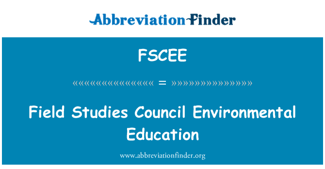 FSCEE: Field Studies Council Environmental Education