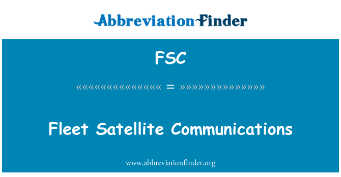 FSC: Fleet Satellite Communications
