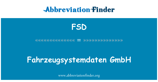 FSD: Fahrzeugsystemdaten GmbH