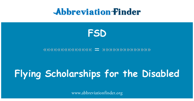FSD: Flying Scholarships for the Disabled