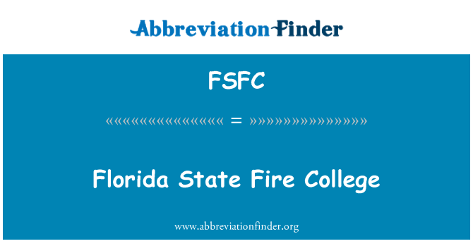 FSFC: Florida State Fire College