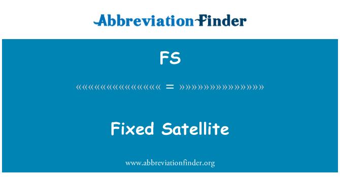 FS: Fixed Satellite