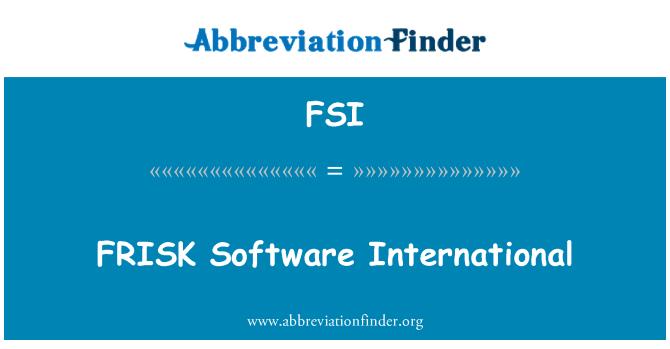 FSI: FRISK Software International