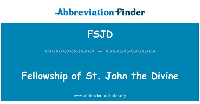 FSJD: Společenstvo sv John Divine
