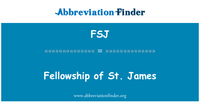 FSJ: St. James stipendium
