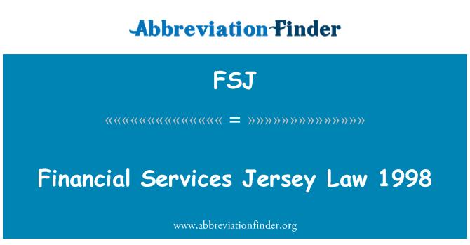 FSJ: Finansal Hizmetler Jersey yasa 1998