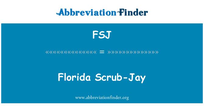 FSJ: Florida Scrub-Jay