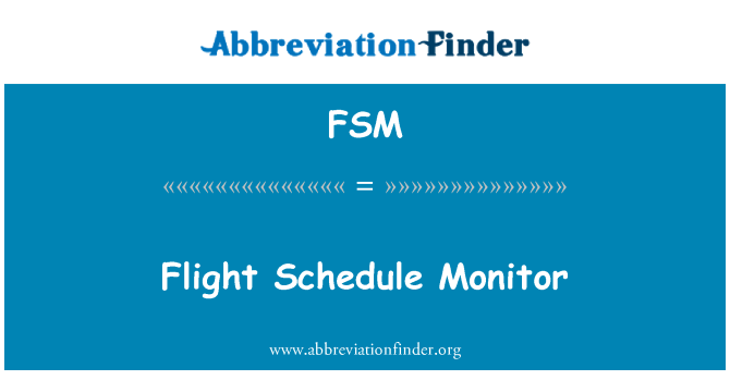 FSM: Flight Schedule Monitor