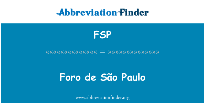 FSP: Foro de São Paulo