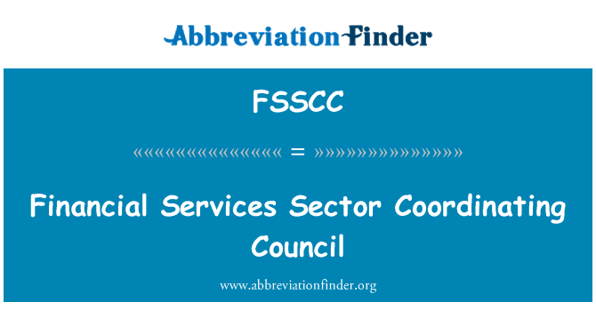 FSSCC: Financial Services Sector Coordinating Council