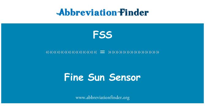 FSS: Fine Sun Sensor
