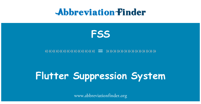 FSS: Flutter Suppression System