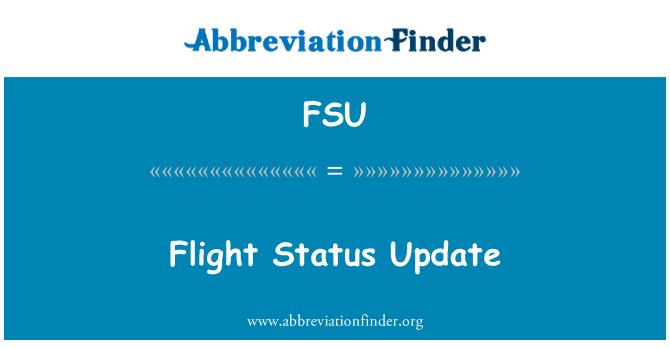 FSU: Flight Status Update