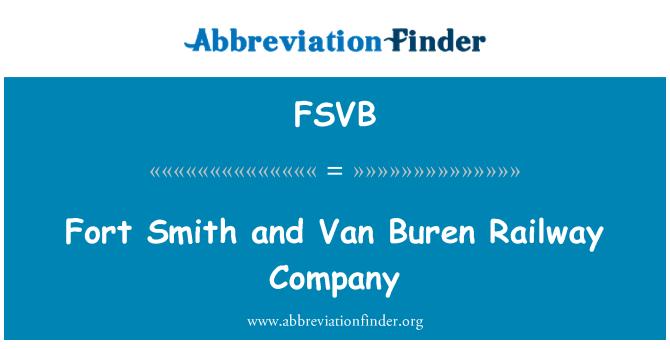 FSVB: Fort Smith y compañía ferroviaria de Van Buren