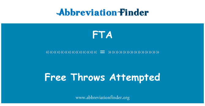 FTA: Free Throws Attempted