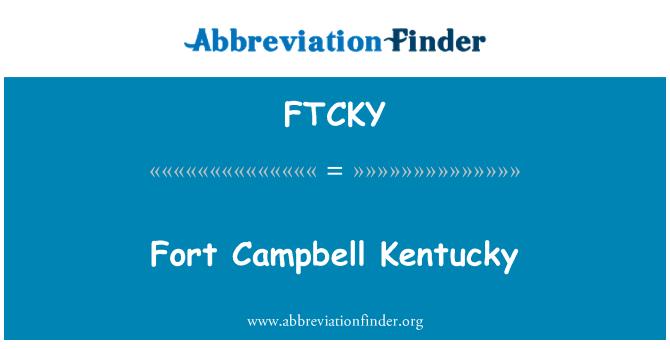 FTCKY: Fort Campbell Kentucky