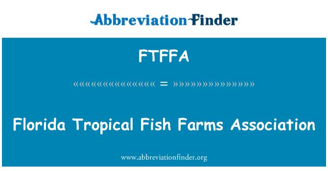 Ftffa definice florida tropical fish farms association for Florida tropical fish farms