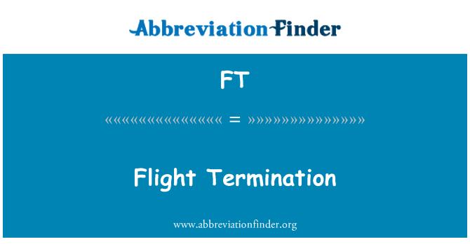 FT: Flight Termination