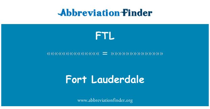 FTL: Fort Lauderdale