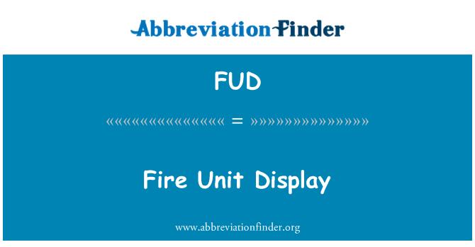FUD: İtfaiye birimi görüntüleme