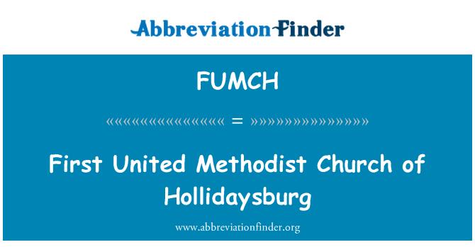 FUMCH: سب سے پہلے میتھوڈسٹ چرچ ہوللادایسبرگ کا متحدہ