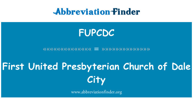 FUPCDC: First United Presbyterian Church of Dale City