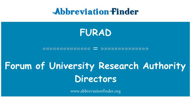 FURAD: Forum of University Research Authority Directors