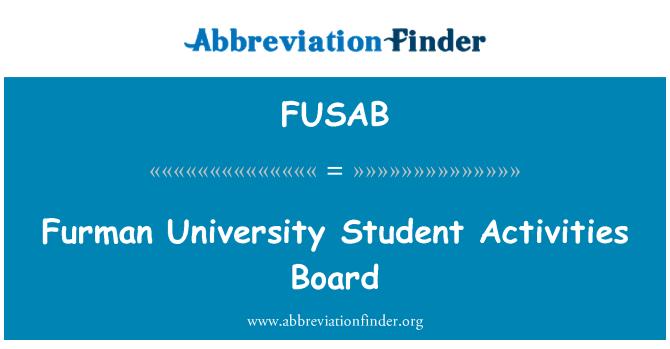 FUSAB: Furman University Student Activities Board