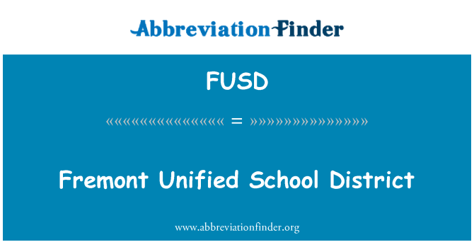 FUSD: Fremont disatukan Sekolah Daerah