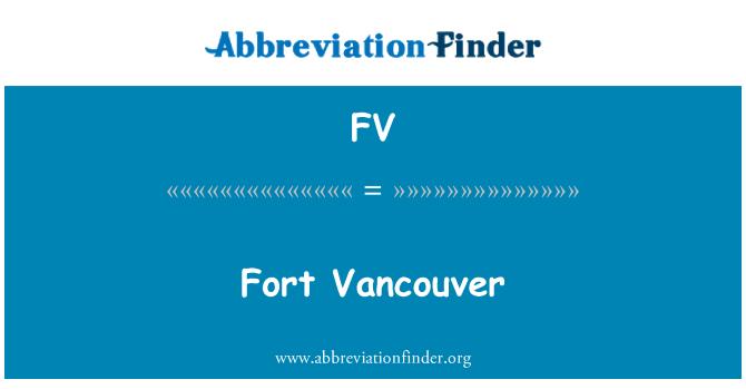 FV: Fort Vancouver