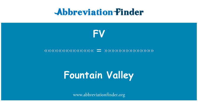 FV: Fountain Valley