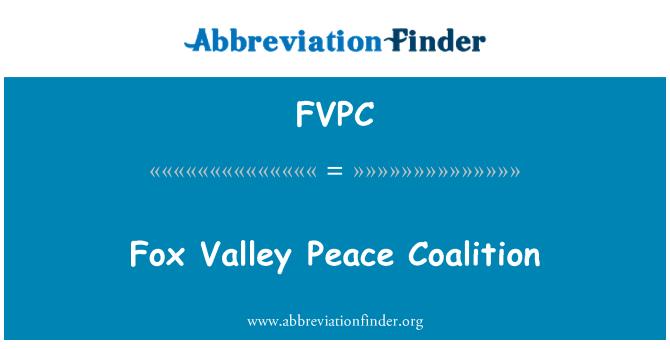 FVPC: Fox Valley Peace Coalition