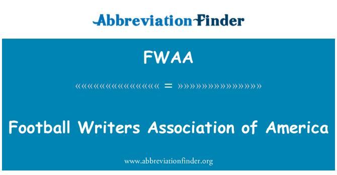 FWAA: Asociación de escritores de fútbol de América