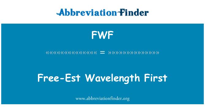 FWF: Longitud de onda libre-Est primera