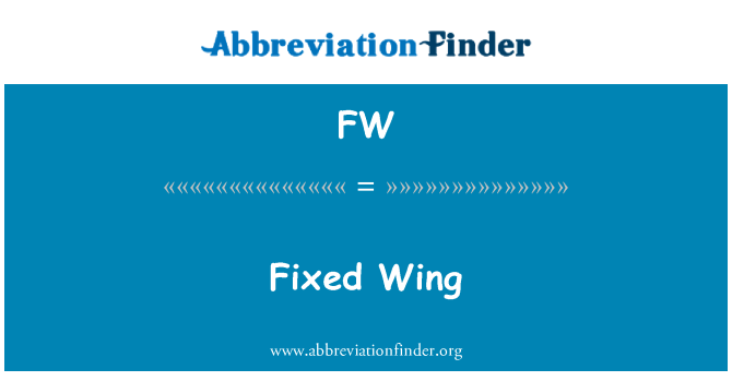 FW: Fixed Wing