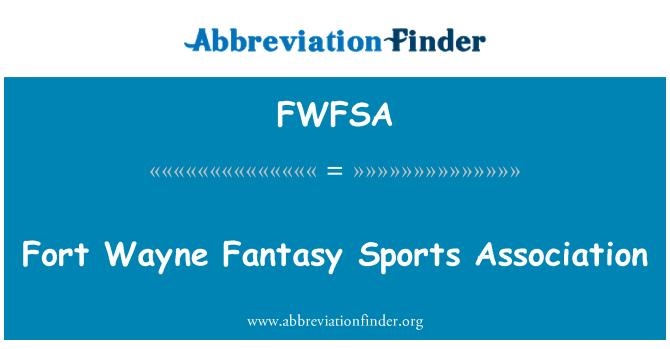 FWFSA: Fort Wayne Fantasy sportovní asociace