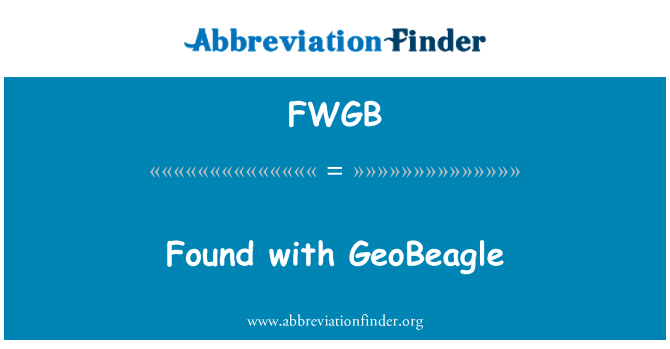 FWGB: Found with GeoBeagle