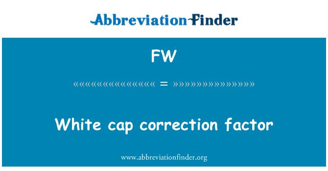 FW: White cap   correction factor