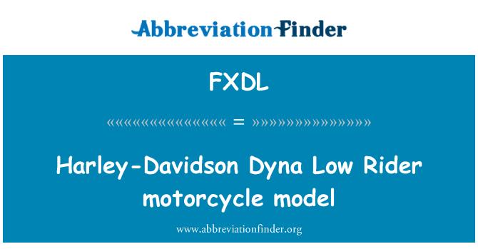 FXDL: Harley-Davidson Dyna Low Rider motorcycle model