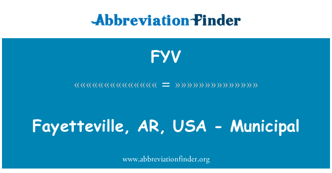 FYV: Fayetteville, AR, USA - Municipal