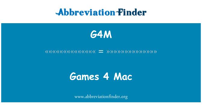 G4M: Games 4 Mac