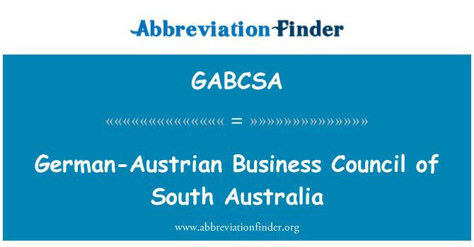 GABCSA: German-Austrian Business Council of South Australia