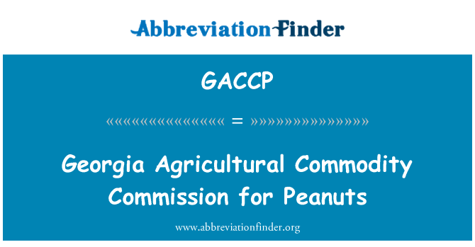 GACCP: Georgia Agricultural Commodity Commission for Peanuts