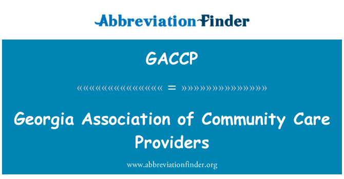 GACCP: Georgia Association of Community Care Providers