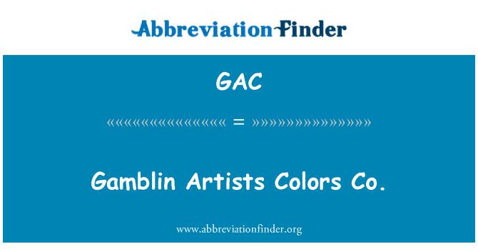 GAC: Gamblin Artists Colors Co.