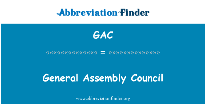 GAC: General Assembly Council