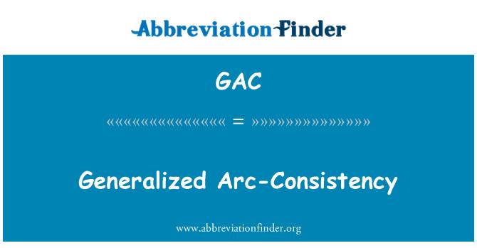 GAC: Generalized Arc-Consistency