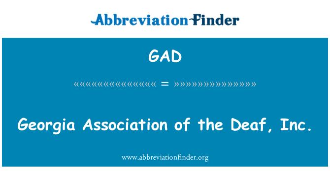 GAD: Georgia Association of the Deaf, Inc.